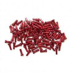 Cabecillas Radios Aluminio 7075 T6 14mm Rojo 100unidades