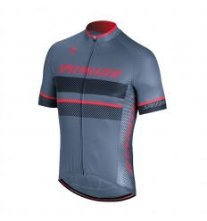 Maillot Specialized Roubaix Comp DstBlue AcdRed