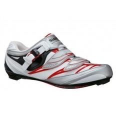 Zapatillas Shimano R133 blanco rojo T-44
