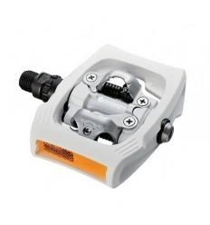 Pedales Shimano T400 Blanco C/R Click R