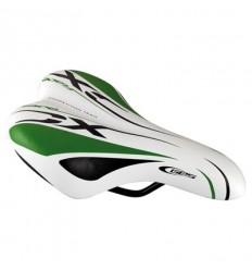 Sillin Ges Junior Race XC blanco / verde / negro