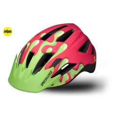Casco Specialized Shuffle Youth Led Mips Acid Pink Slime