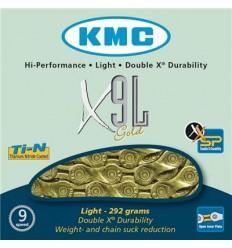 Cadena KMC X-9LGold9V oro
