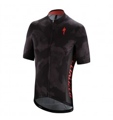 Maillot Specialized Roubaix Comp Camo Charcoal Rocket Red