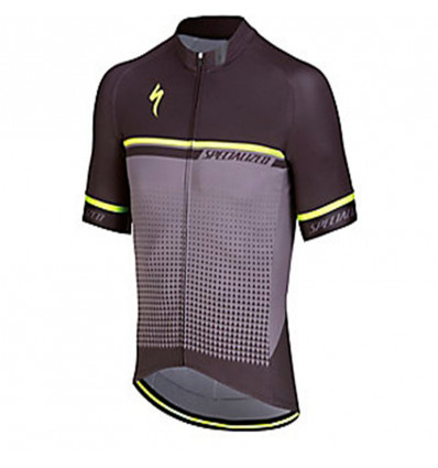 Maillot Specialized SL Expert Black Anthracite Neon Yellow