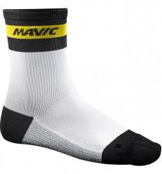 Calcetines Mavic Ksyrium carbon blanco negro amarillo