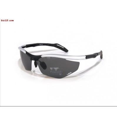 Gafas VIKA Polarizadas montura negro plata (cristales: Polarizado+ ...
