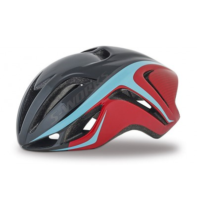 Casco Specialized Evade Rojo Light Azul S-Works