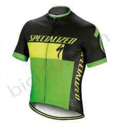 Maillot Specialized Roubaix Comp Logo Verde Negro