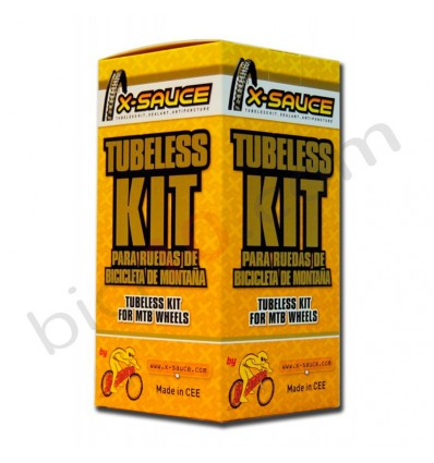 Kit Tubeless X-Sauce 27,5 Valvula Fina 23mm 2 Ruedas